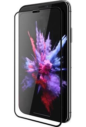 Case 4U Apple iPhone XR - iPhone 11 Tam Kaplayan Ekran Koruyucu Fiber Nano Siyah