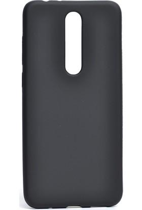 KNY Nokia 5.1 Plus Kılıf Ultra İnce Mat Silikon + Nano Cam Ekran Koruyucu
