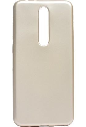 Happyshop Nokia 5.1 Plus Kılıf Ultra İnce Mat Silikon + Cam Ekran Koruyucu