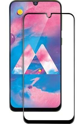 Dafoni Samsung Galaxy M30 Curve Tempered Glass Premium Full Siyah Cam Ekran Koruyucu