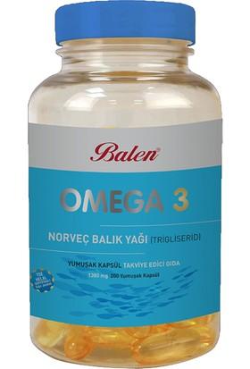 Balen Omega 3 Norveç Balık Yağı 1380 Mg 200 Kapsül (Trigliserid Form)