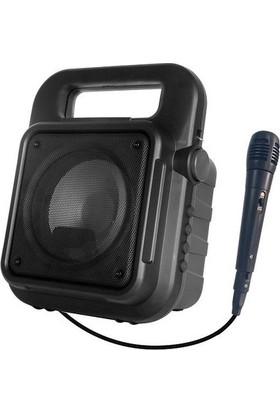Hometech Taşınabilir Mikrofonlu BT Speaker Amfi