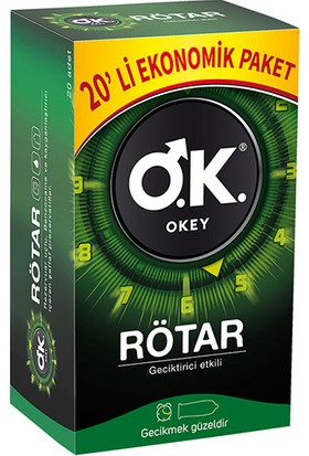 Okey Rötar Prezervatif 20'li
