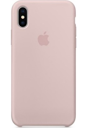 Casethrone Apple iPhone X / Xs Lansman Kum Pembe Silikon Kılıf Kauçuk Arka Kapak