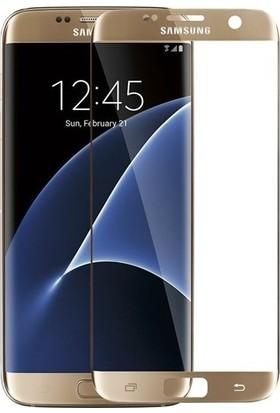 Kılıfreyonum Samsung Galaxy S7 Edge Kavisli 5D Koruyucu Cam Gold