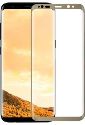 Kılıfreyonum Samsung Galaxy S8 Plus Kavisli 5D Koruyucu Cam Gold