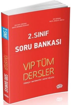 Editör Yayınları 2. Sınıf VIP Tüm Dersler Soru Bankası-Kırmızı Kitap