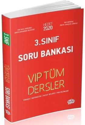 Editör Yayınları 3. Sınıf VIP Tüm Dersler Soru Bankası-Kırmızı Kitap