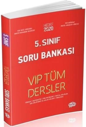 Editör Yayınları 5. Sınıf VIP Tüm Dersler Soru Bankası-Kırmızı Kitap