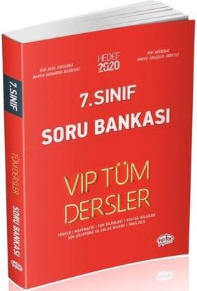 Editör Yayınları 7. Sınıf VIP Tüm Dersler Soru Bankası-Kırmızı Kitap