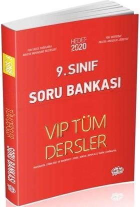 Editör Yayınları 9. Sınıf VIP Tüm Dersler Soru Bankası-Kırmızı Kitap