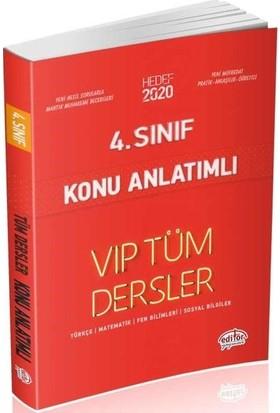 Editör Yayınları 4. Sınıf VIP Tüm Dersler Konu Anlatımlı-Kırmızı Kitap