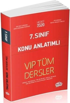 Editör Yayınları 7. Sınıf VIP Tüm Dersler Konu Anlatımlı-Kırmızı Kitap