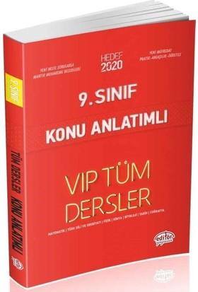 Editör Yayınları 9. Sınıf VIP Tüm Dersler Konu Anlatımlı-Kırmızı Kitap