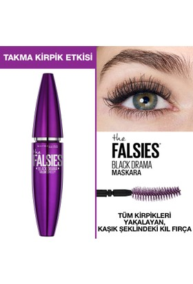 dcac464c65a Maybelline New York Volum' Express Falsies Black Drama Takma Kirpik Etkili Siyah  Maskara ...