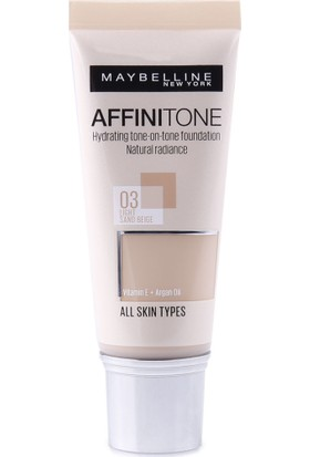 Maybelline New York Affinitone Fondöten - 03 Light Sandbeige