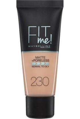 Maybelline New York Fit Me Matte+Poreless Fondöten - 230 Natural Buff