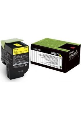 Lexmark 80C8Hye Sarı Toner Cx410 / Cx510