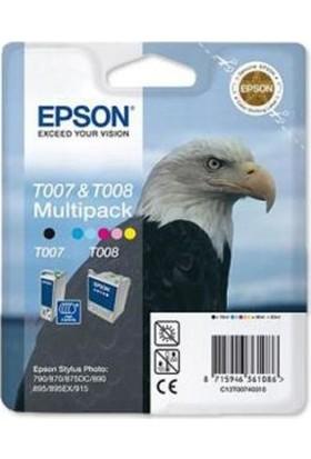 Epson T007 & T008 T00740310 Multıpack Kartuş