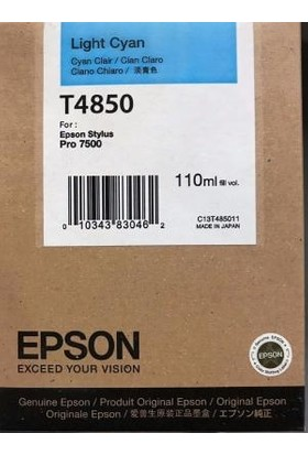 Epson T4850 Açık Mavi Kartuş - Pro 7500
