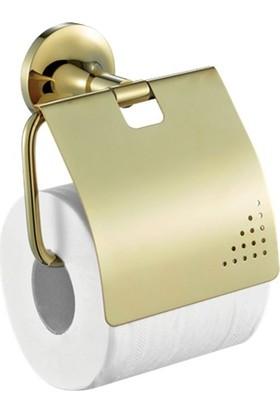 Creavıt Neo Gold Kapaklı Tuvalet Kağıtlık Altın No12028G