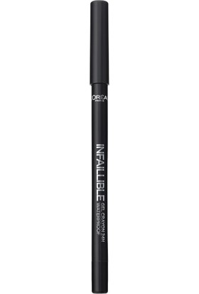 L'Oréal Paris Infaillible Gel Crayon Göz Kalemi 01 Back to Black - Siyah