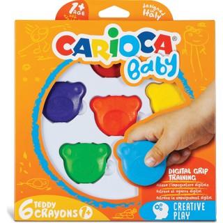 Carioca Carioca Teddy Bebek Crayons 6'Lı +1 Yaş