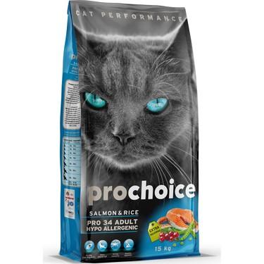 Prochoice Pro 34 Somon Ve Pirinçli Kedi Kuru Mama 15 Kg Fiyatı