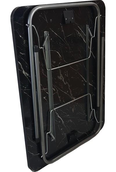 Bofigo Granit Desenli Katlanır Masa - 60 X 80 cm