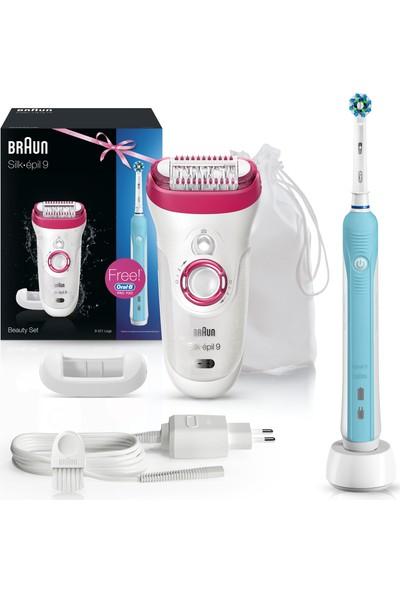 Braun Silk-épil 9 Serisi 9521 Epilatör + Oral-B Şarj Edilebilir Diş Fırçası Pro-Care 500