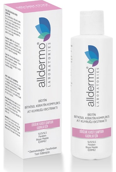 Alldermo Biotin & Cüce Palmiye Ekstraktı Dökülme Karsıtı Şampuan 200 ml - Kadınlar İçin