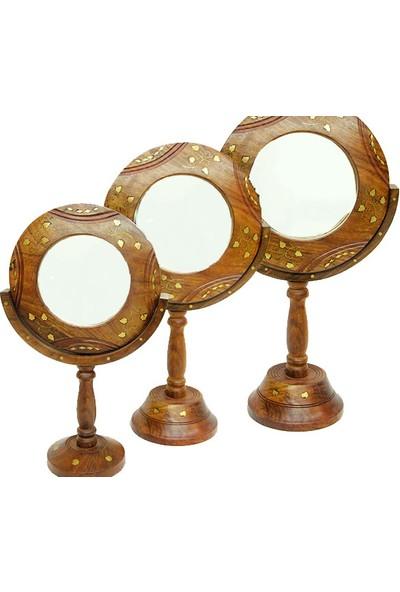 Klc Ahşap 3'lü Ayna Seti