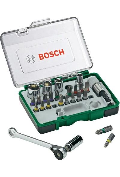 Bosch 27 Parça Extra Hard Tornavida Ucu ve Lokma Anahtarı Seti