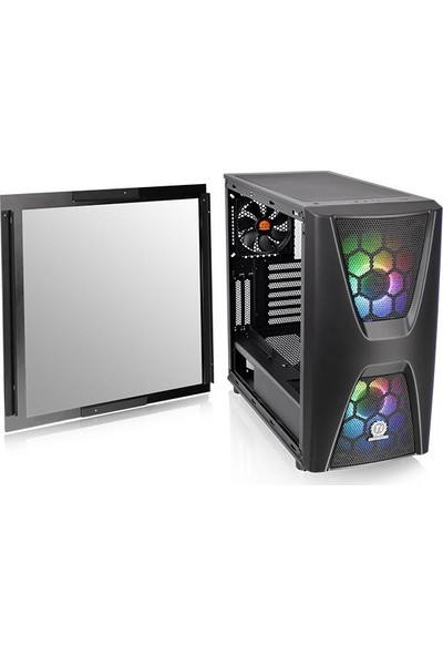 Thermaltake CA-1N5-00M1WN-00 Commander C34 Tempered Glass RGB 2x200cm Fan Mi̇dTower Kasa