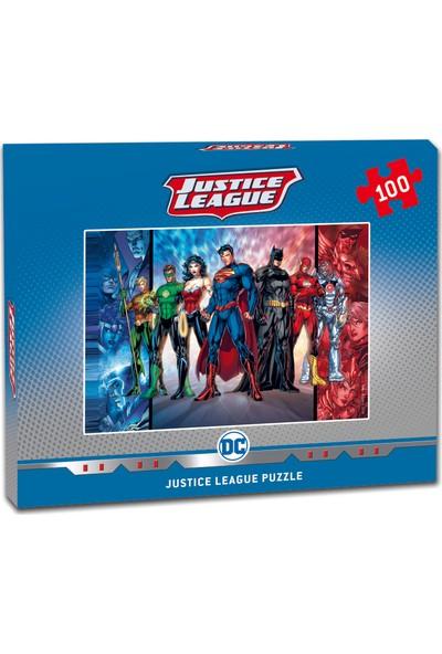 Laço Justice League 100 Parça Çocuk Puzzle