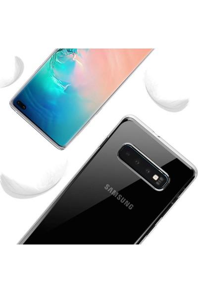Kılıfist Samsung Galaxy S10 Plus Şeffaf Esnek Silikon Kılıf Kamera Korumalı