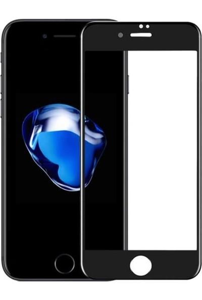 Kılıfist iPhone 6 6S Plus 5D Temperli Cam Ekran Koruyucu Siyah
