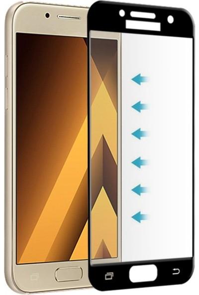 Kılıfist Samsung Galaxy A5 2017 Ekranı Tam Kapatan Ekran Koruyucu Cam Siyah