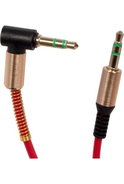 Powermaster Xf-09 3.5 Mm Erkek/Erkek Gold Stereo Aux L Uçlu Kablo