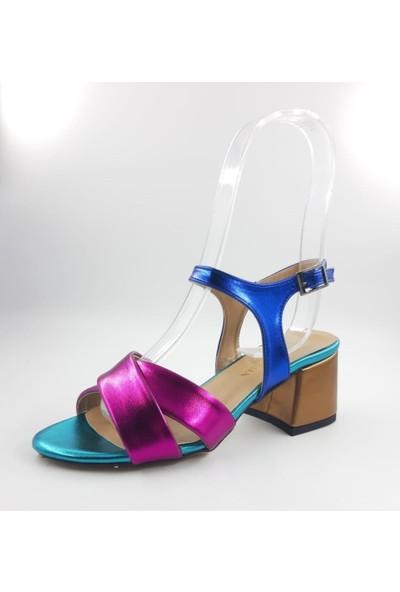 Valeria 3 Renkli Kalın Topuklu Ayakkabı