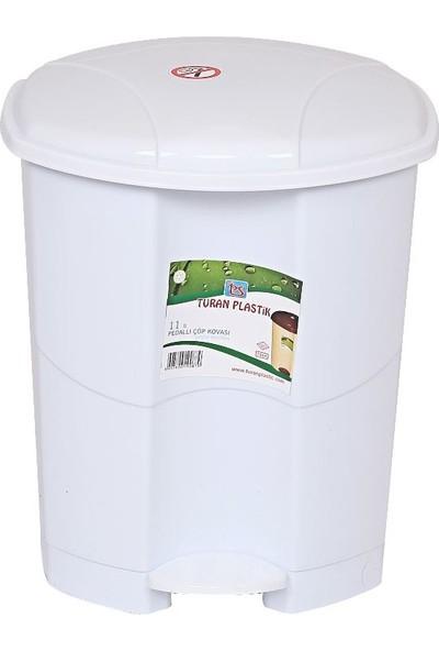 Banadabul Turan Pedallı Çöp Kovası 11 lt Beyaz