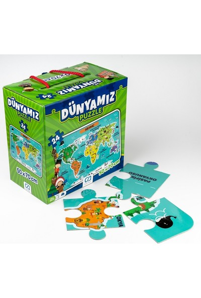 Ca Games 24 Parça Dünyamiz Maxi Boy Eğitici Puzzle - 5025