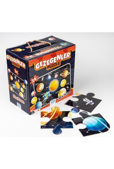 Ca Games 24 Parça Gezegenler Maxi Boy Eğitici Puzzle - 5026