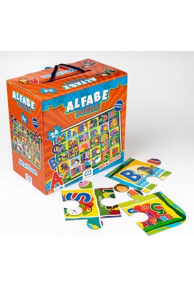 Ca Games 24 Parça Alfabe Eğitici Maxi Boy Puzzle - 70X50 Cm