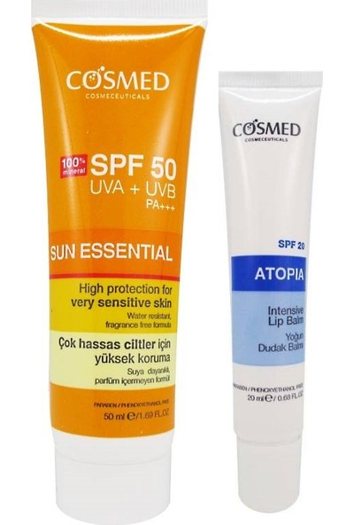 Cosmed Sun Essential SPF50 Very Sensitive Skin Cream 50 ml Set