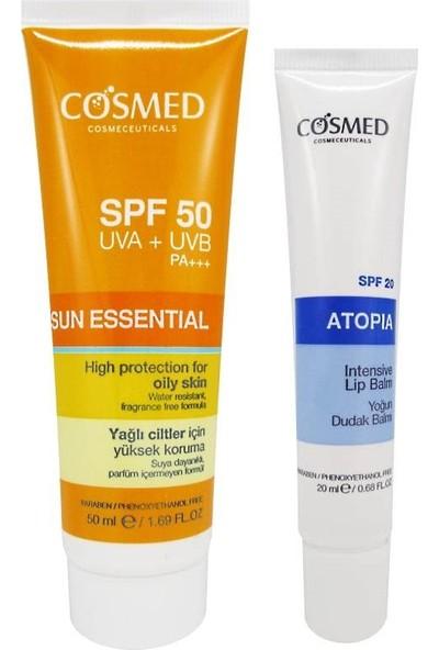 Cosmed Sun Essential SPF50 Oily Skin Cream 50 ml Set