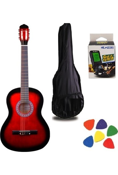 Gonzalez 4 / 4 Tam Boy Klasik Gitar + Kılıf + Akort Cihazı