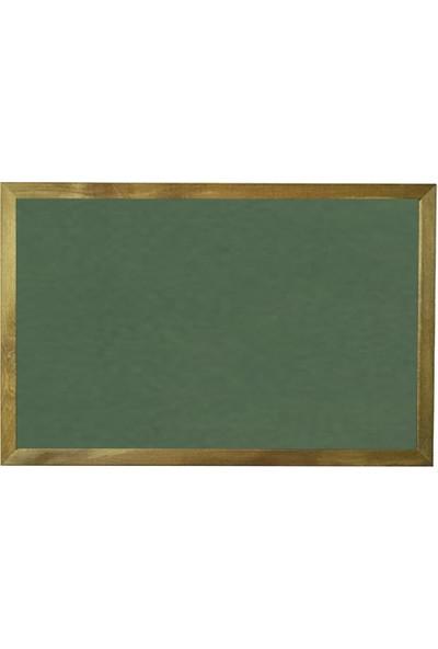 Vivekka 100X180 Duvara Monte Ahşap Çerçeve Laminat Yeşil Yazı Tahtası