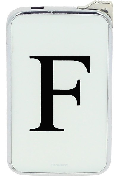 The Company F Harf Metal Çakmak Beyaz