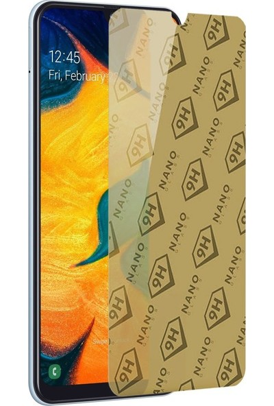 Etech Samsung Galaxy A30 Blue Nano Glass Ekran Koruyucu